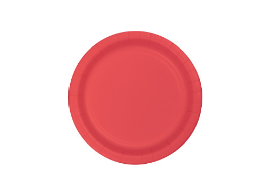Lunch Plates - Coral - 12pk
