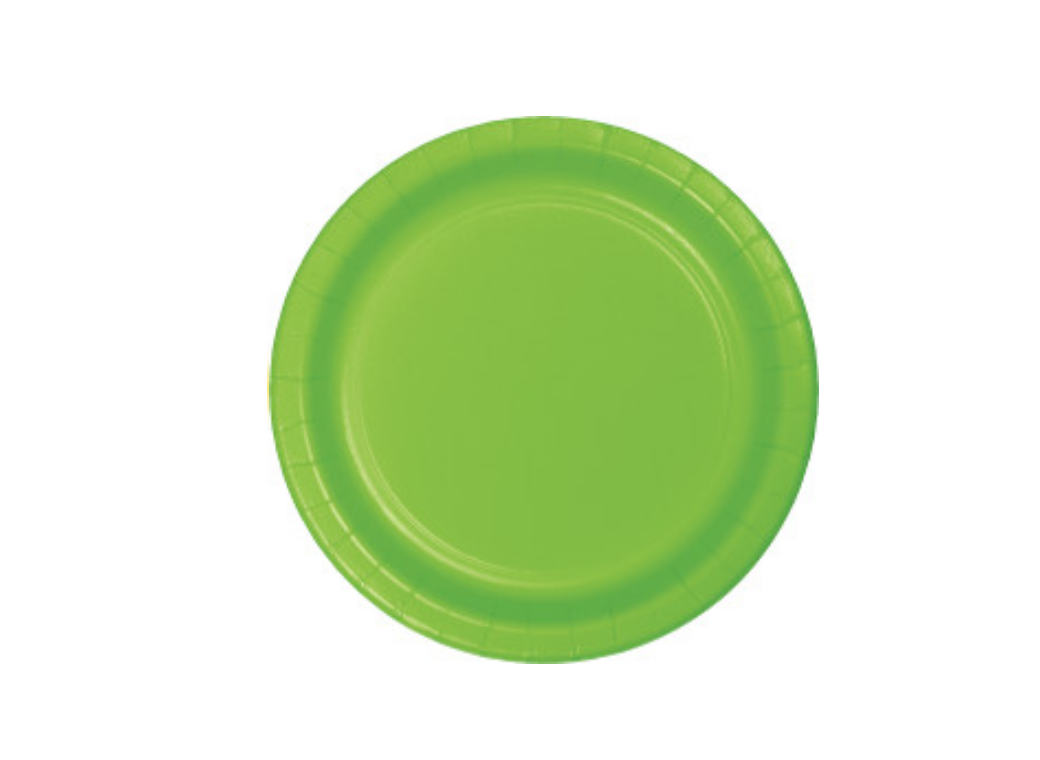 Lunch Plates - Fresh Lime - 12pk