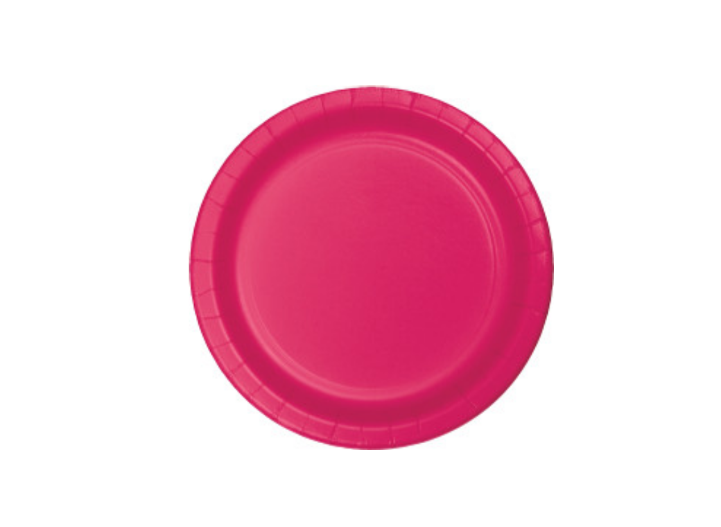 Lunch Plate - Hot Pink - 12pk