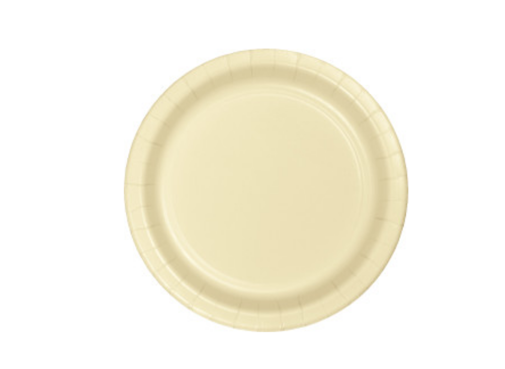 Lunch Plates - Ivory - 12pk