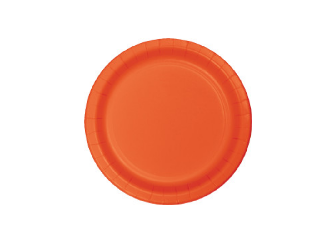 Lunch Plate - Orange - 12pk