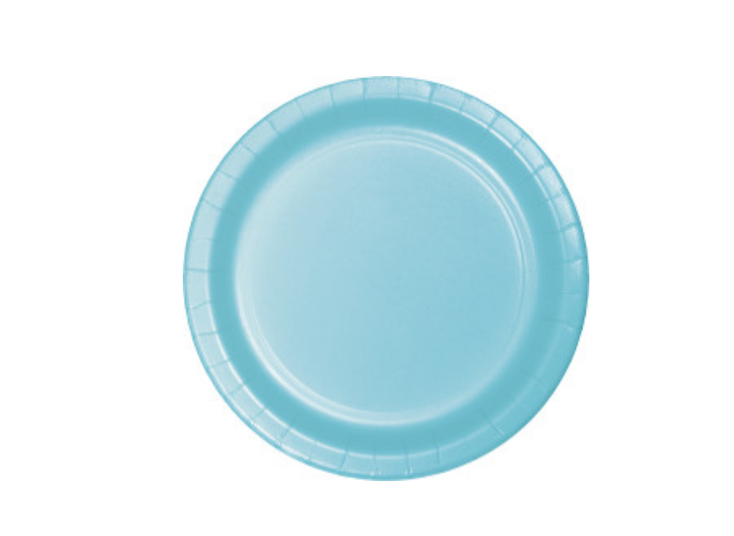 Lunch Plate - Pastel Blue - 12pk
