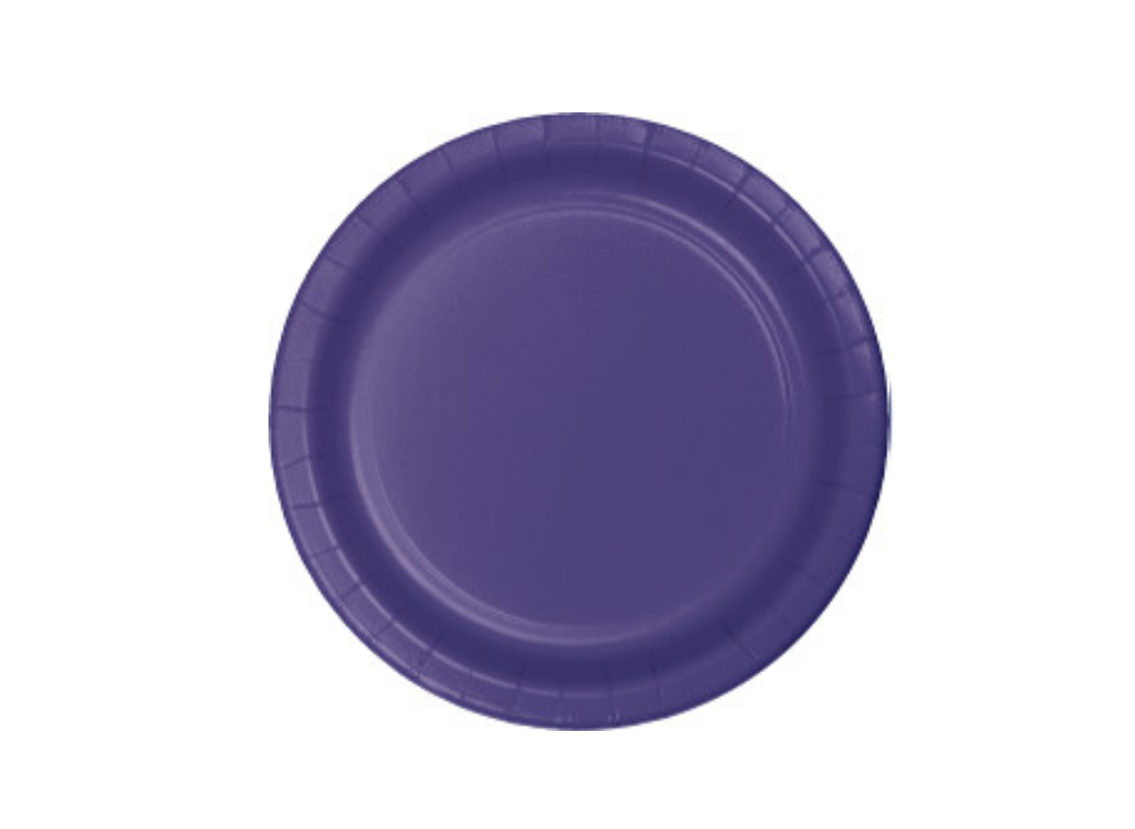 Lunch Plates - Purple - 12pk