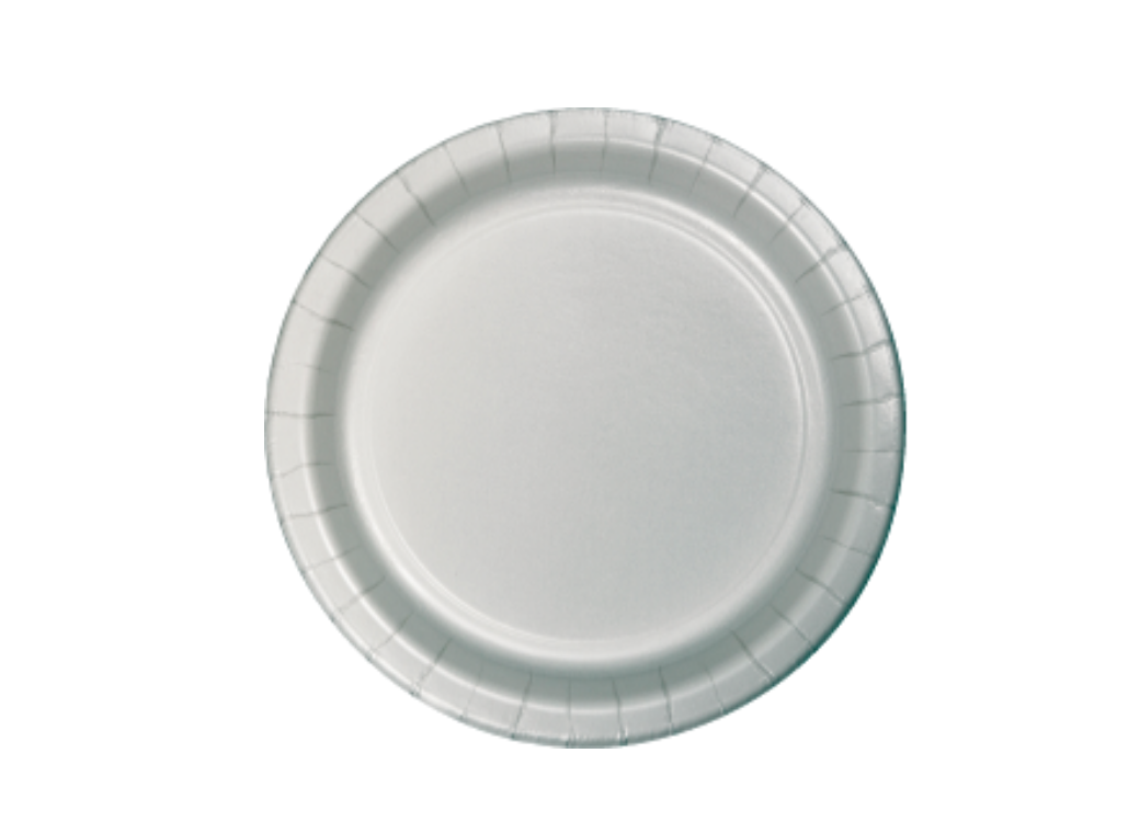 Lunch Plate - Silver - 12pk