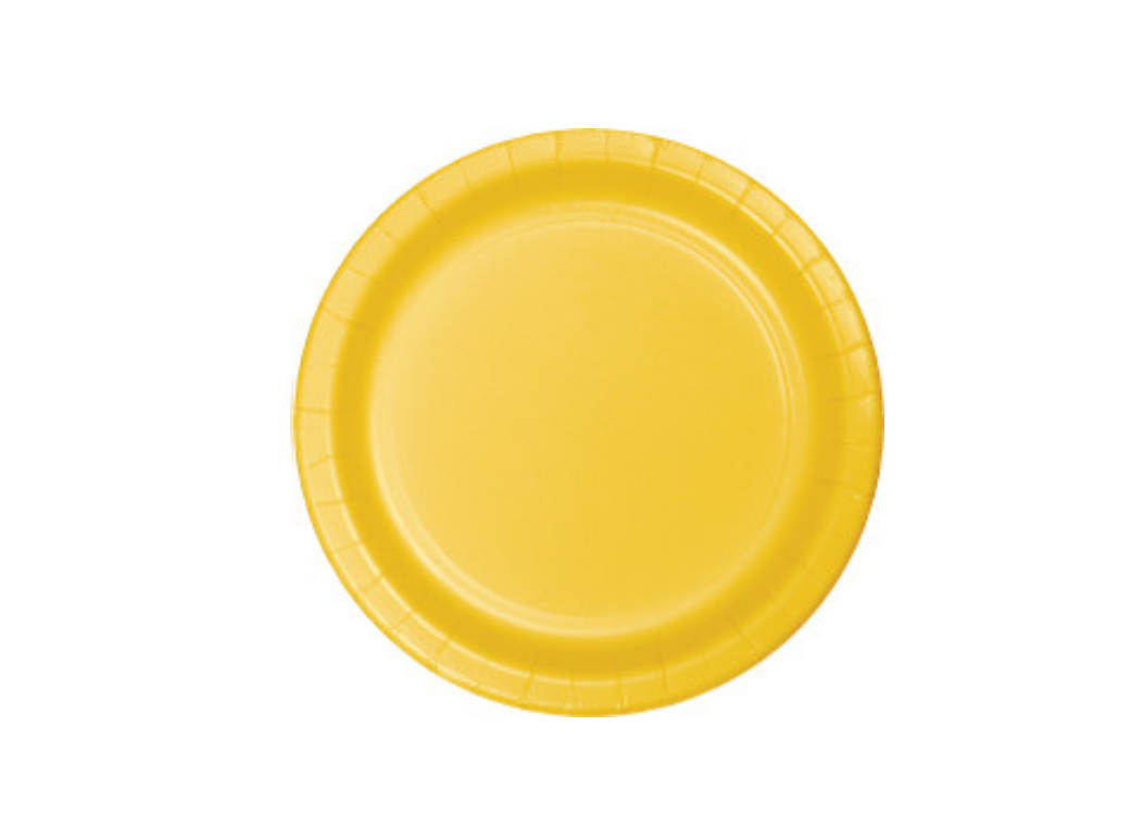 Lunch Plate - Yellow - 12pk