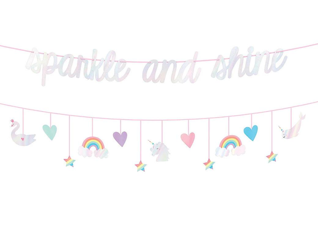 Magical Rainbow Banner & Garland Set