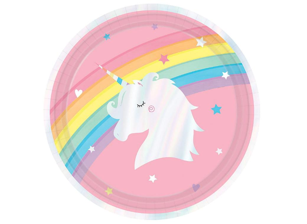 Magical Rainbow Dinner Plates 8pk