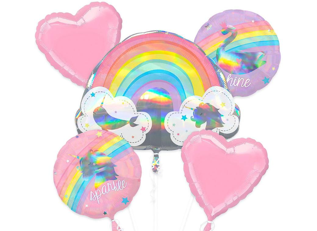Magical Rainbow Foil Balloon Bouquet