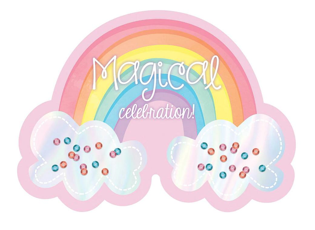 Magical Rainbow Invitations 8pk