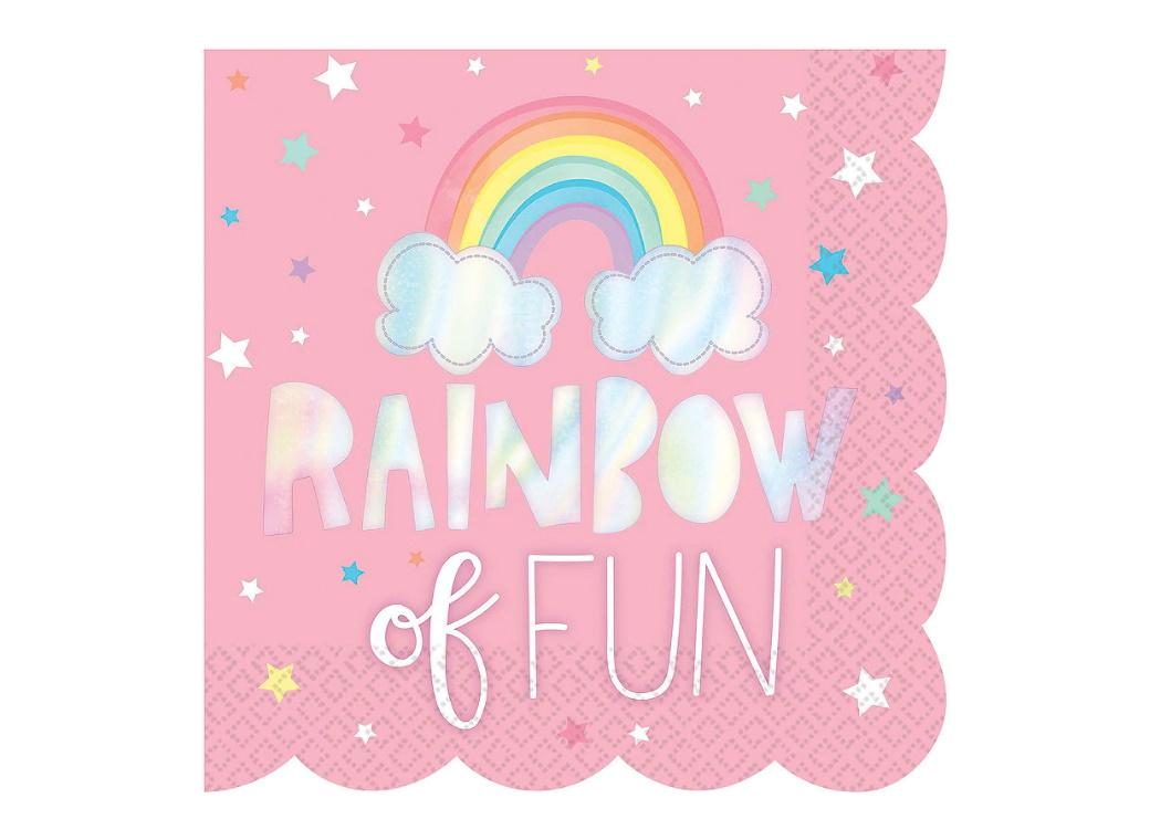 Magical Rainbow Lunch Napkins 16pk