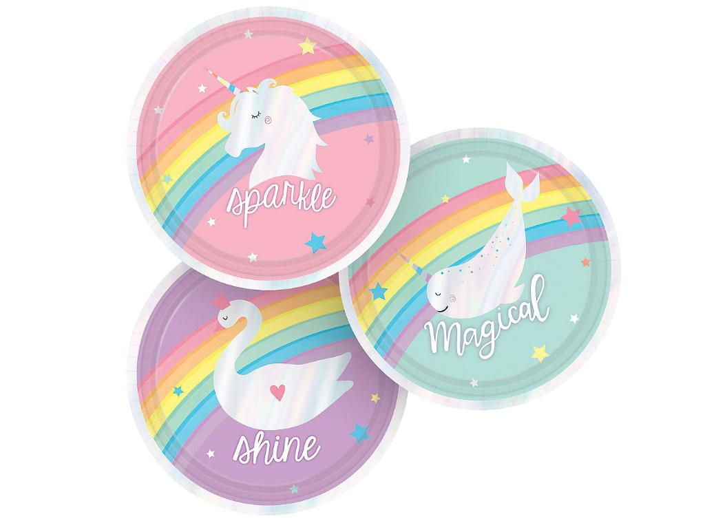 Magical Rainbow Lunch Plates 8pk