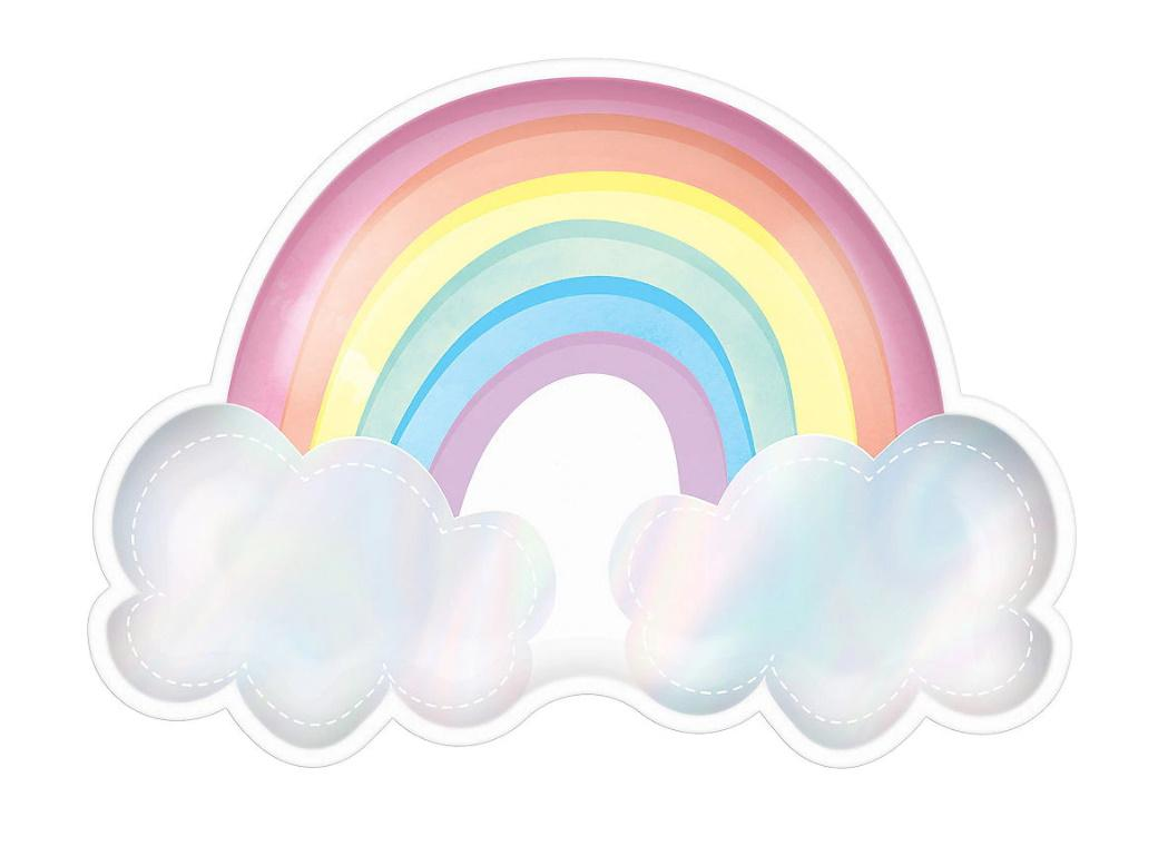 Magical Rainbow Shaped Plates 8pk