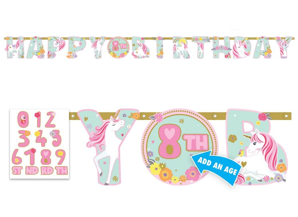 Magical Unicorn Add An Age Banner