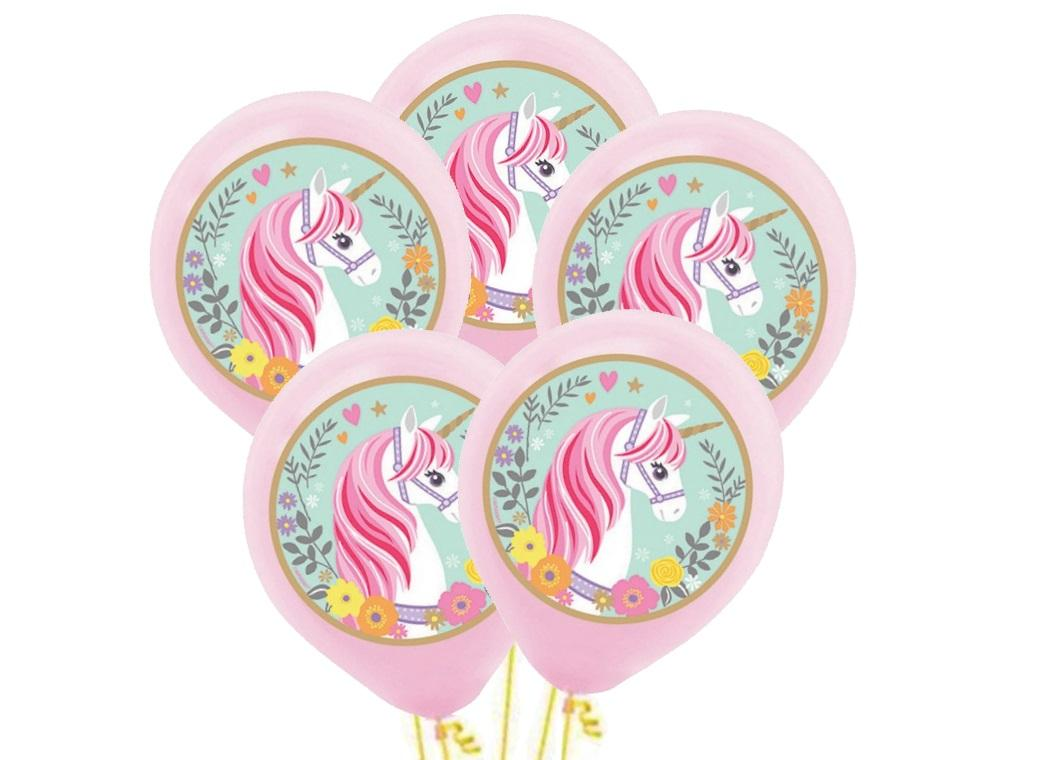 Magical Unicorn Balloons 5pk