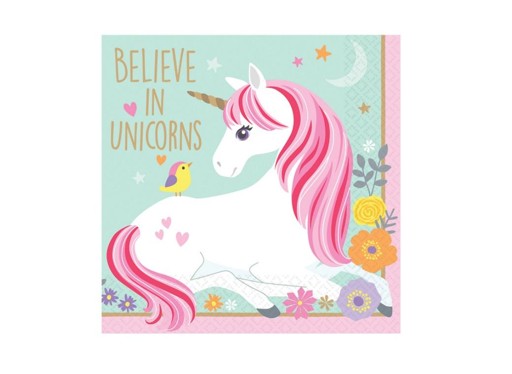 Magical Unicorn Beverage Napkins 16pk