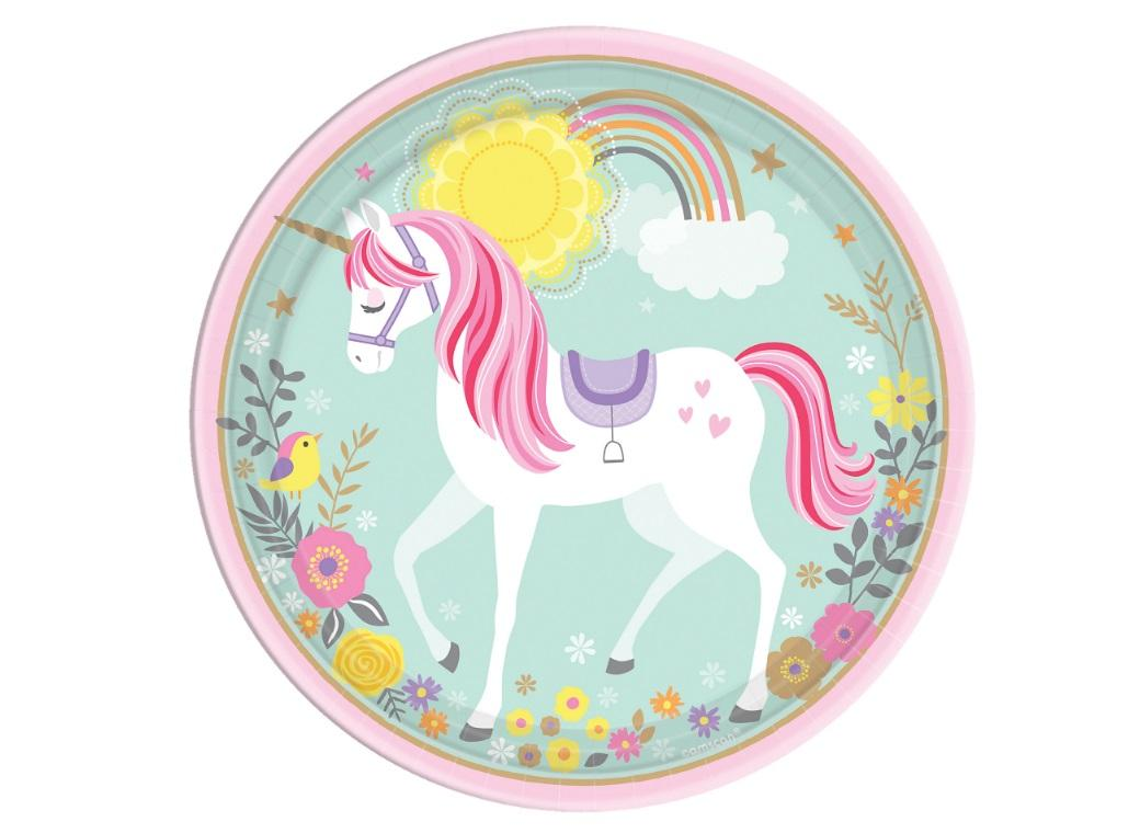 Magical Unicorn Dinner Plates 8pk