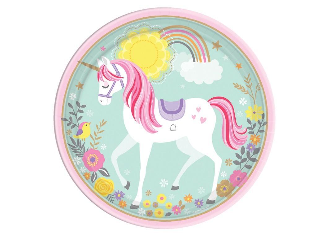 Magical Unicorn Dinner Plates 8pk