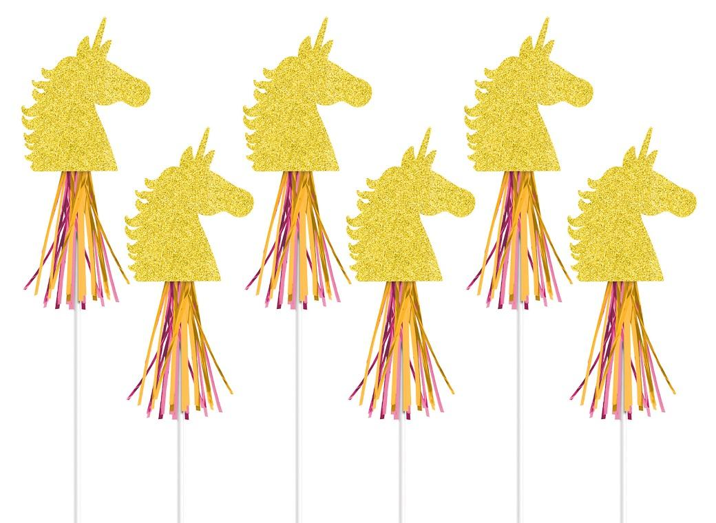 Magical Unicorn Glitter Wands 6pk