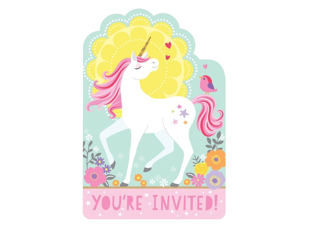 Magical Unicorn Invitations 8pk