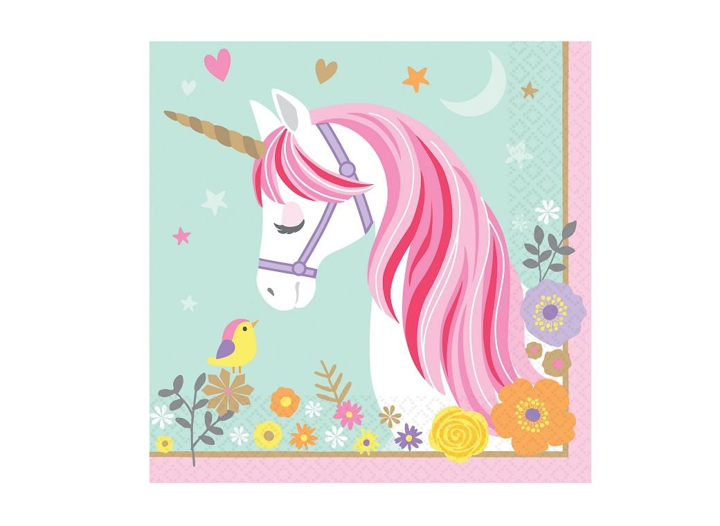Magical Unicorn Lunch Napkins 16pk