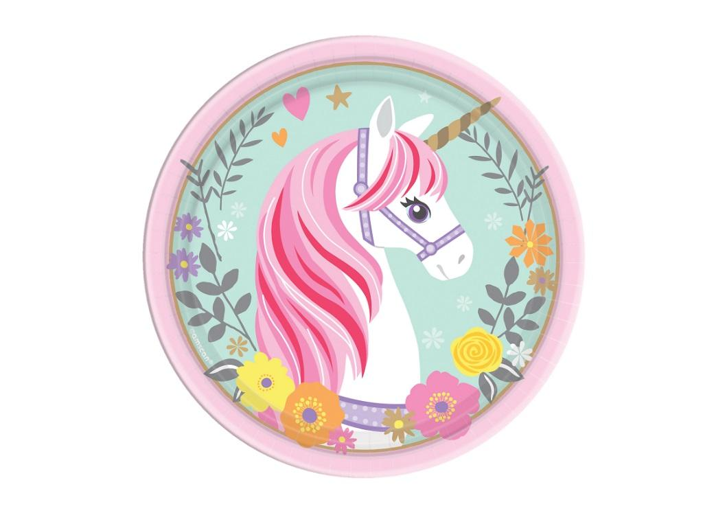 Magical Unicorn Lunch Plates 8pk
