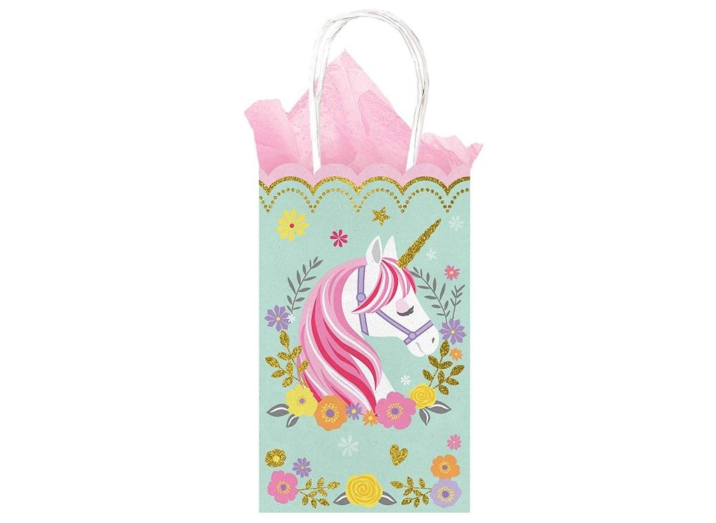 Magical Unicorn Glittered Treat Bags 10pk