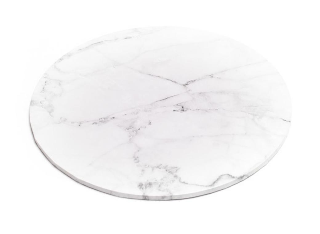"Marble Masonite Cake Board Round - 14"""