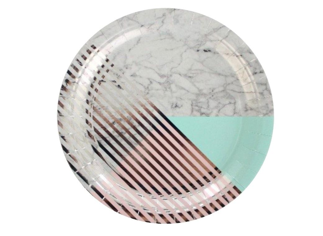 Marble Party Plates - 8pk