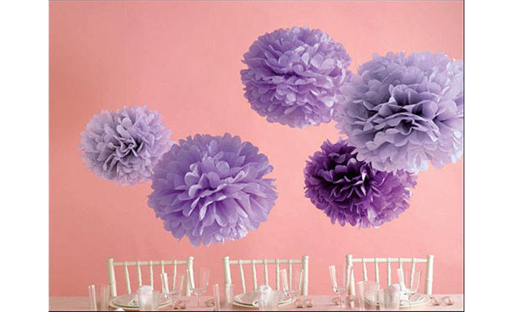 Martha Stewart Purple Pom Poms - 5pk