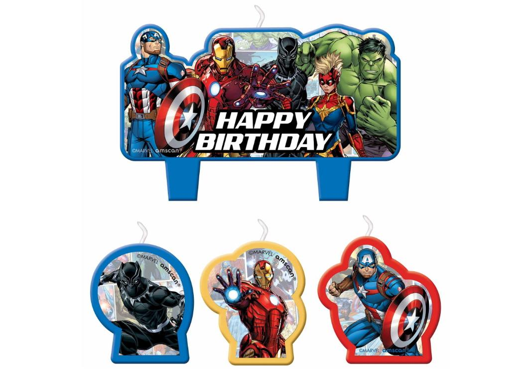 Avengers Birthday Candle Set