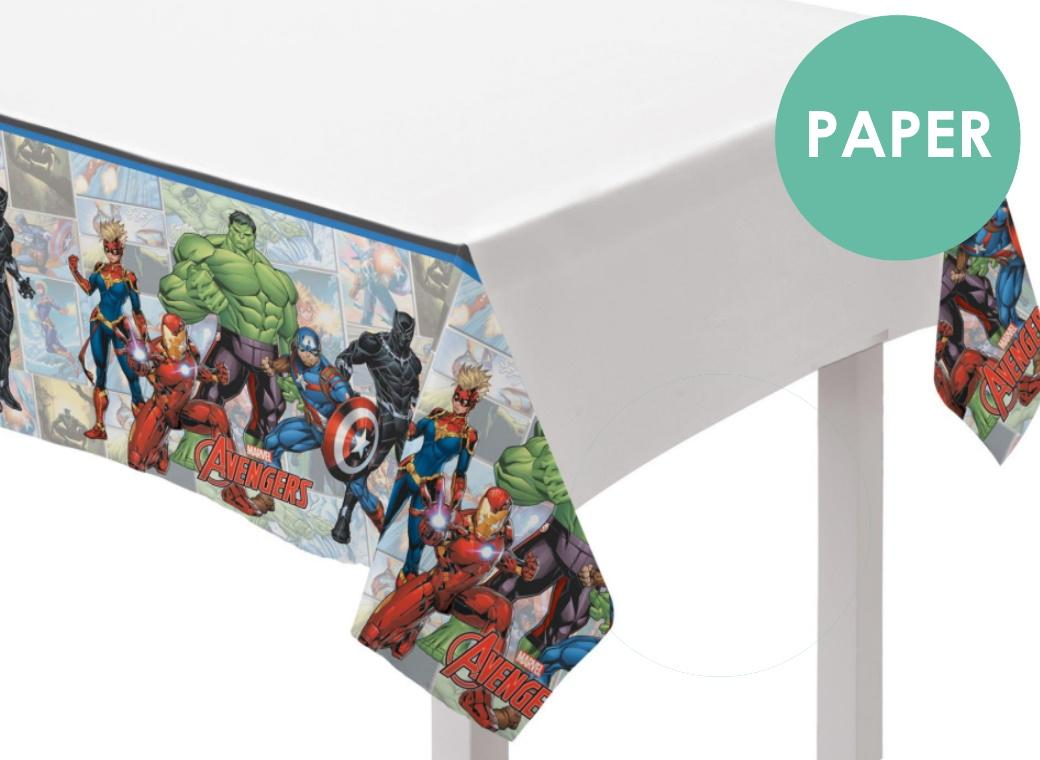 Marvel Avengers Paper Tablecover