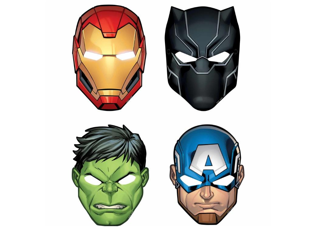 Avengers Party Masks 8pk