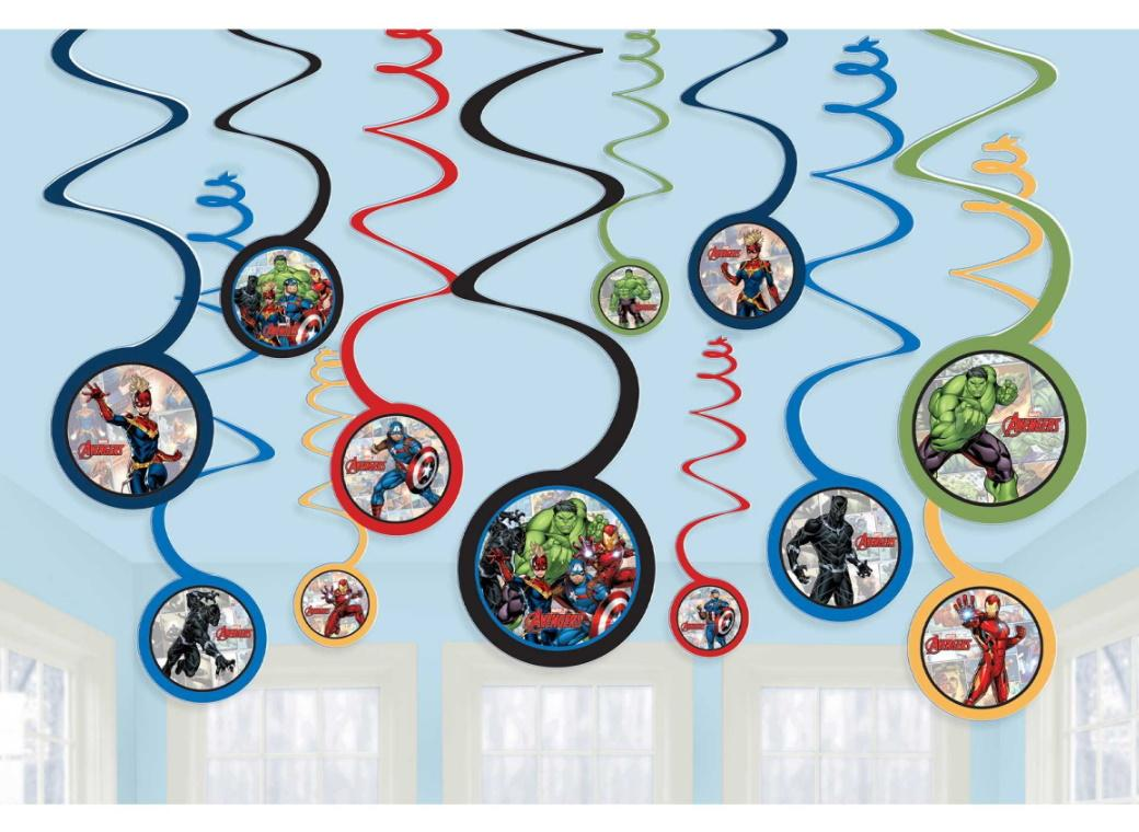Avengers Hanging Spiral Decorations