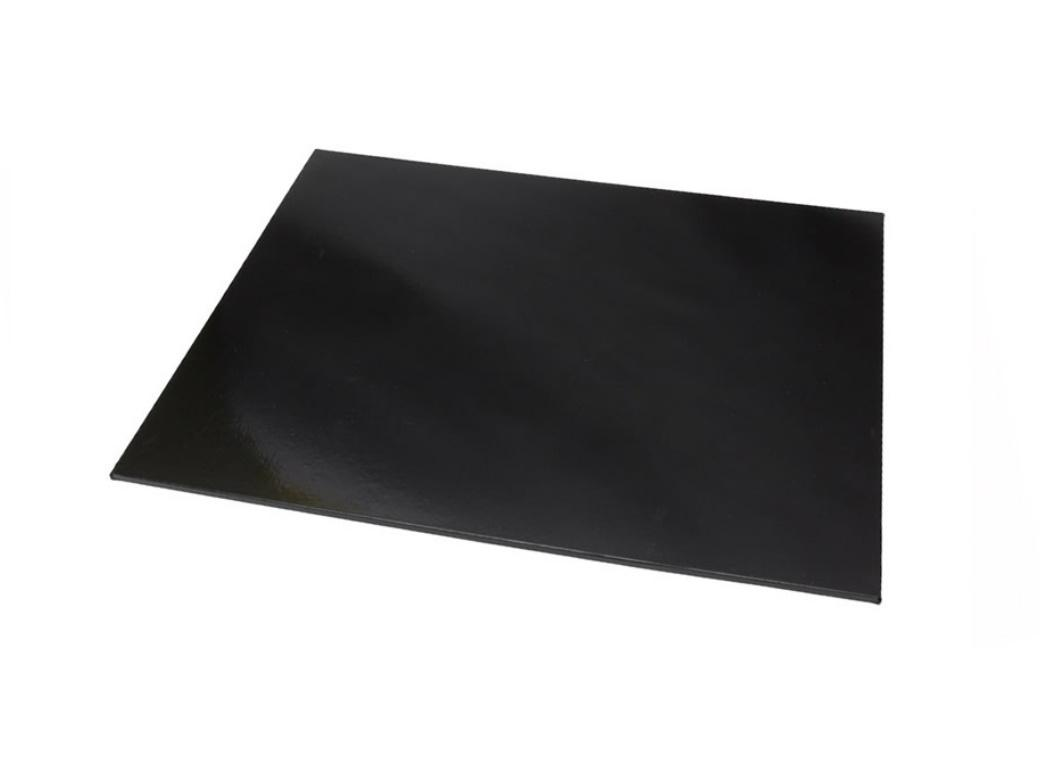 Black Masonite Cake Board Rectangle