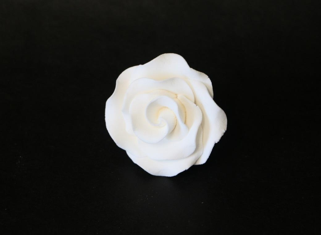 Gumpaste White Rose - Medium