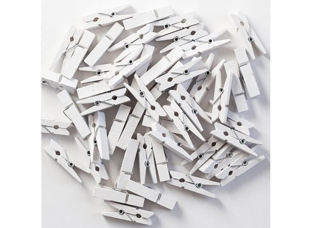Medium Pegs White - 50pk