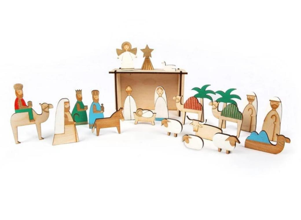 Meri Meri Deluxe Wooden Nativity Advent Calendar