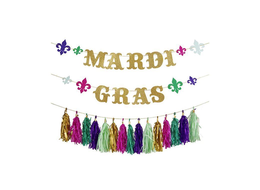 Meri Meri Mardi Gras Garland Kit