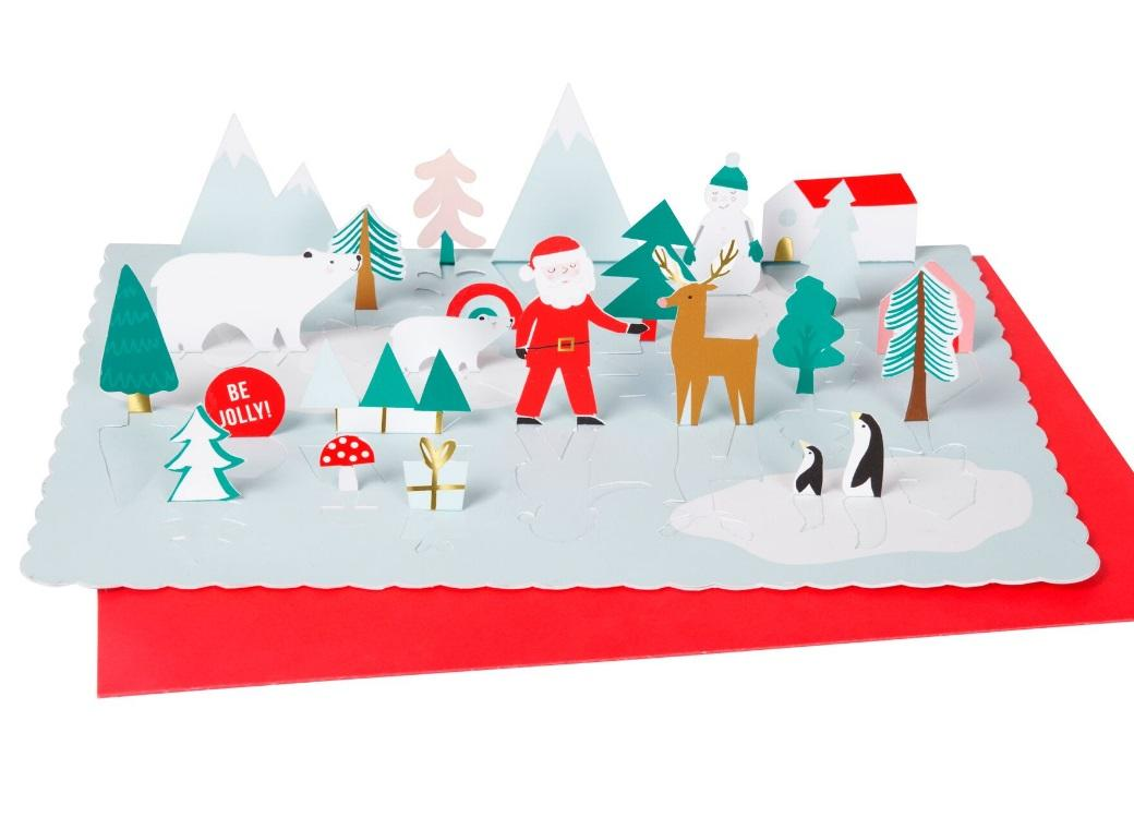 Pop Up Santa Scene Advent Calendar