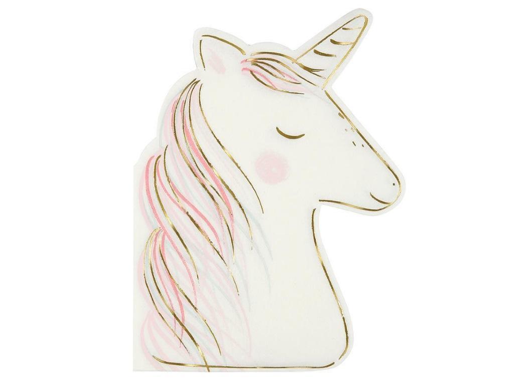 Meri Meri Unicorn Shaped Napkins 16pk