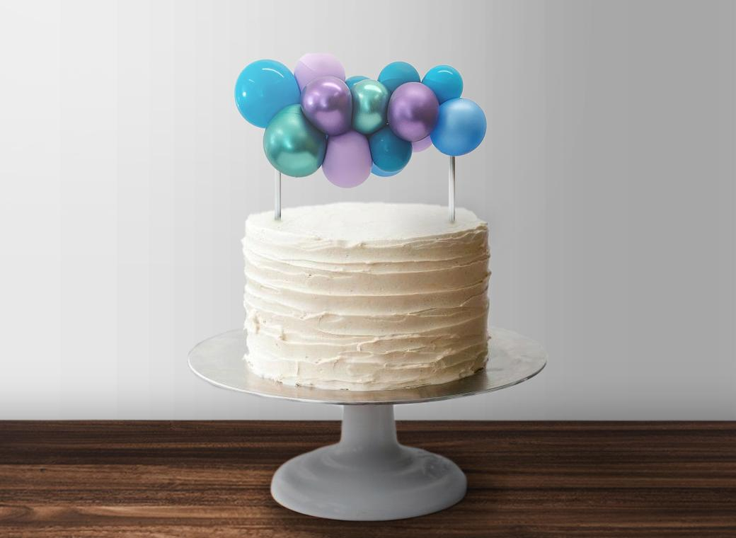 Balloon Garland Cake Topper - Mermaid