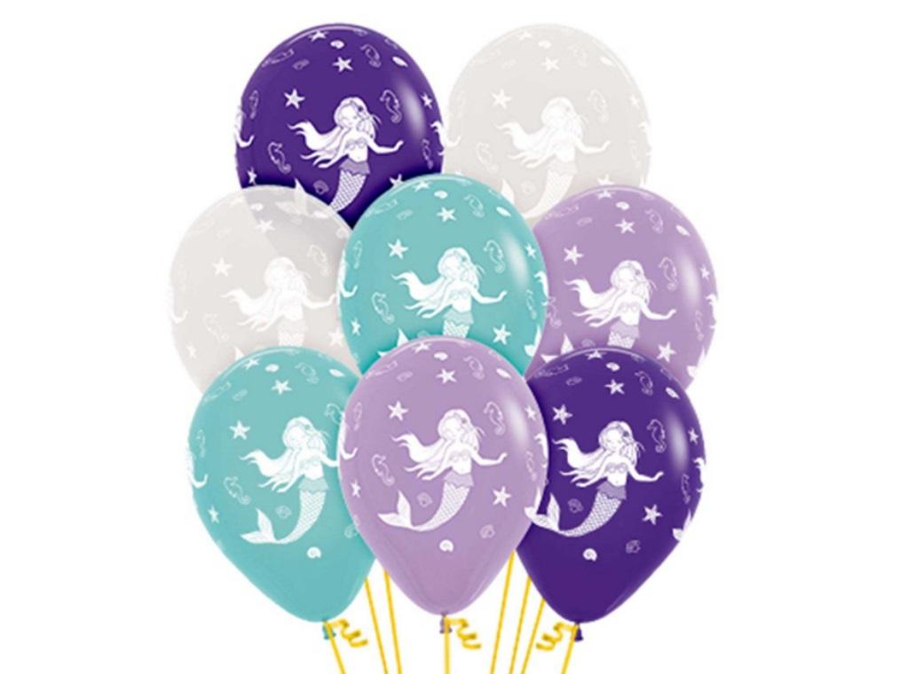 Mermaid Balloons 12pk