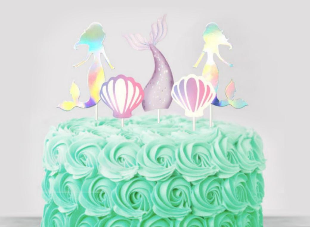 Mermaid Cake Topper Set