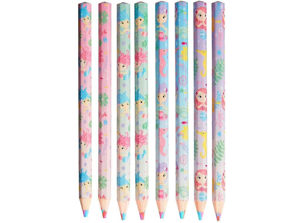 Mermaid Multi-Coloured Pencils 8pk