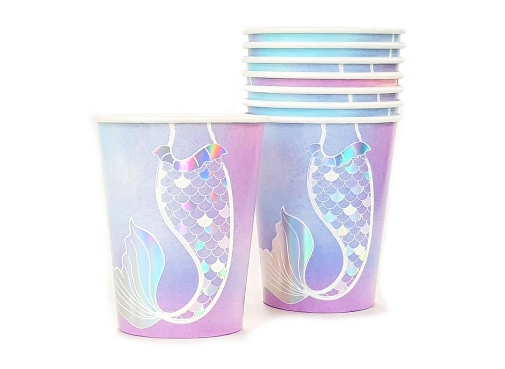 Mermaid Party Cups 8pk