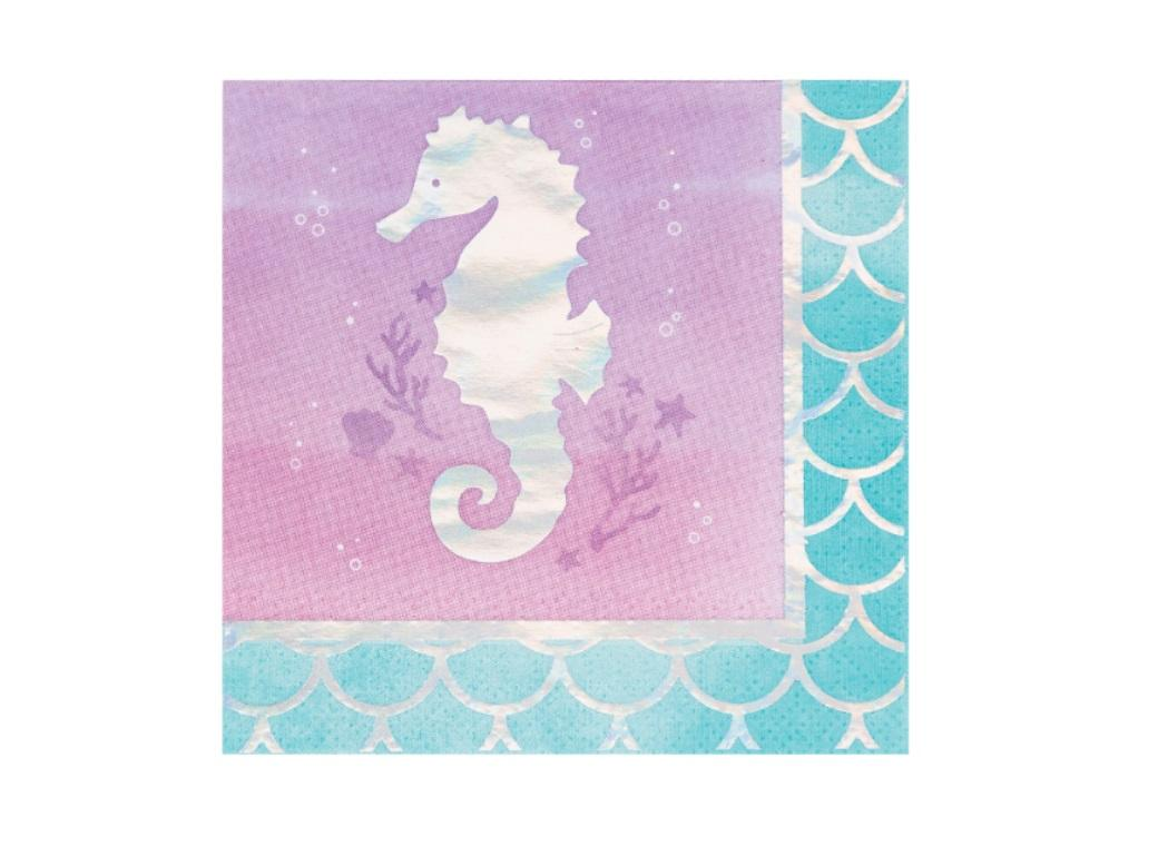 Mermaid Shine Beverage Napkins 16pk