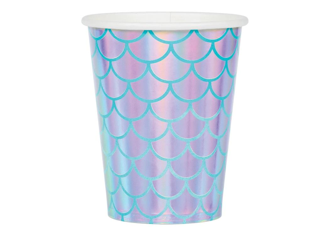 Mermaid Shine Iridescent Cups 8pk
