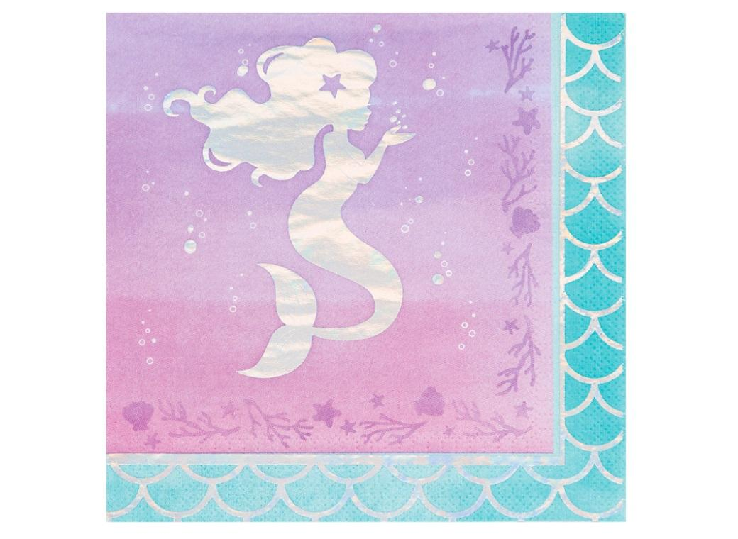 Mermaid Shine Lunch Napkins 16pk