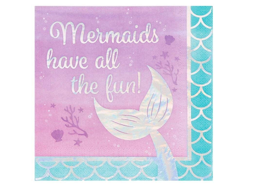 Mermaid Shine Mermaid Fun Lunch Napkins 16pk
