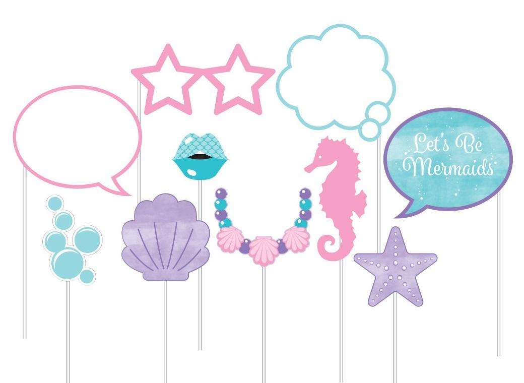 Mermaid Shine Photo Props
